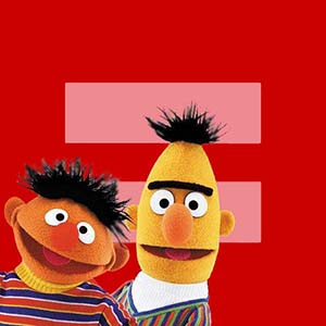 Bert and Ernie support marriage equality