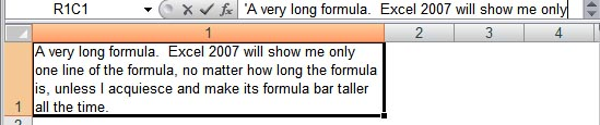 A long formula in Excel 2007