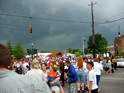 The crowd before the storm