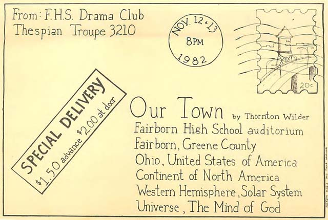 Cover of the Our Town program