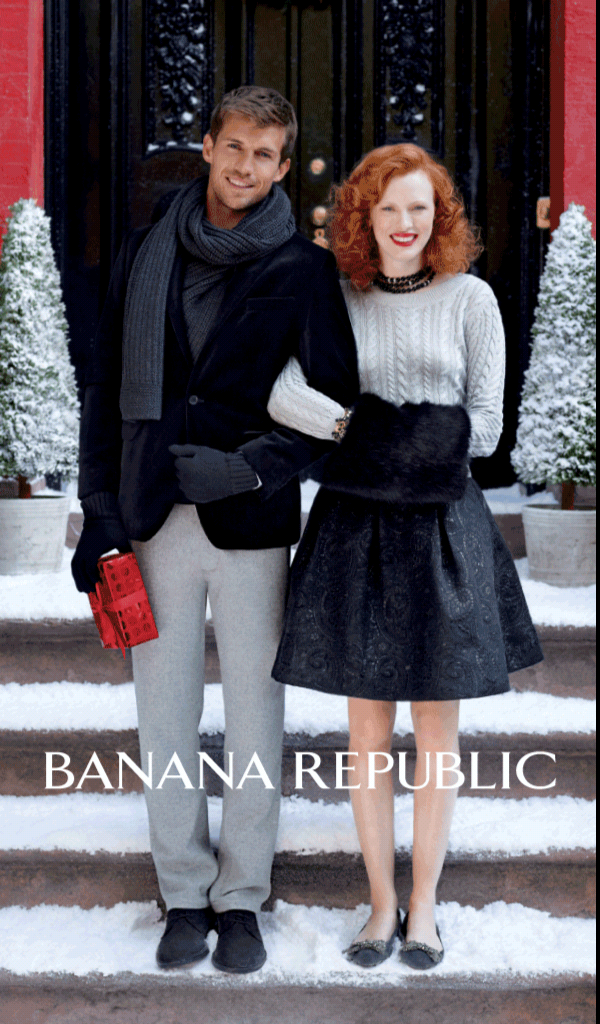 Kindle Fire edition of the Banana Republic ad