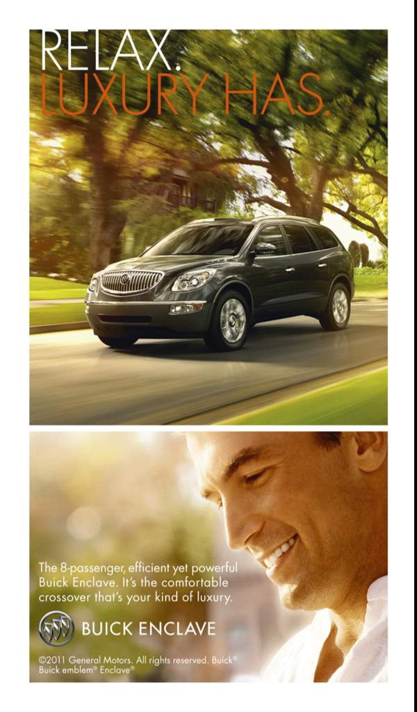 Kindle Fire edition of the Buick Enclave ad