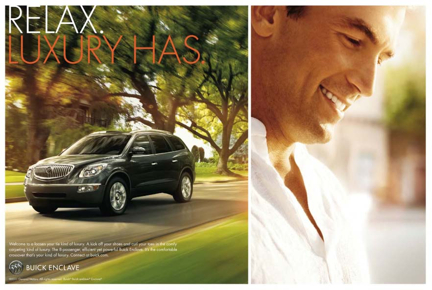 Print edition of the Buick Enclave ad