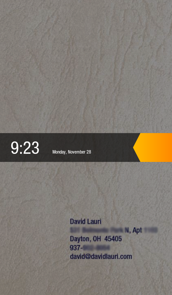 My Kindle Fire's unlock screen now has my contact info on it